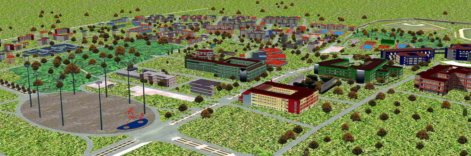 Campus de la Universidad de las Ciencias Informáticas UCI en un paseo virtual