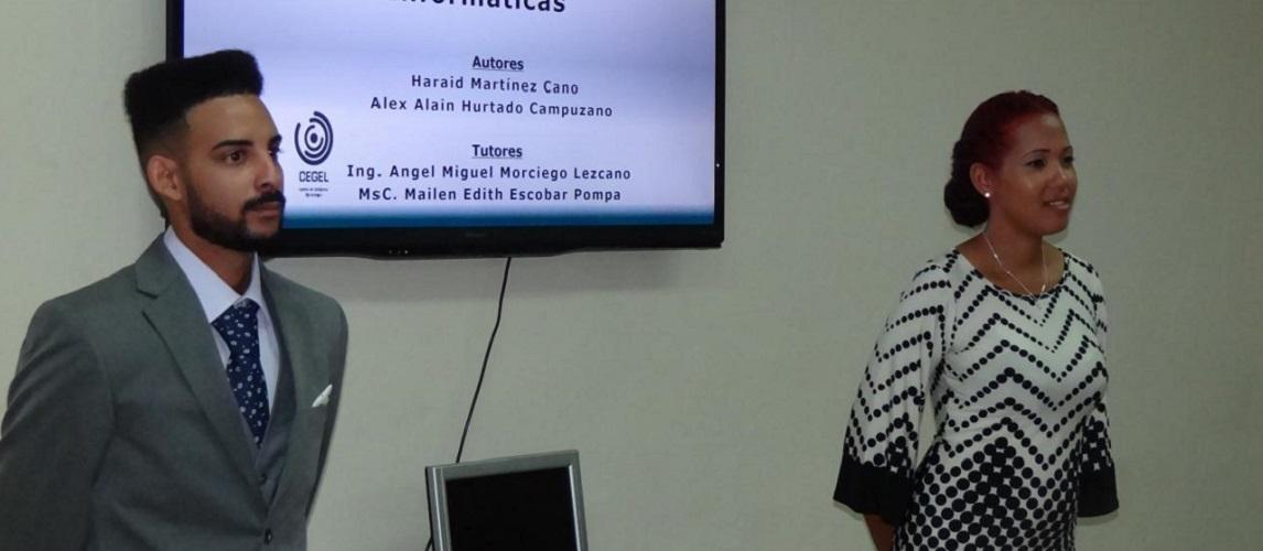 Alex Hurtado y Haraid Martínez, los estudiantes más integrales de 2019 en la Facultad 3 de la UCI, defendieron exitosamente su tesis para graduarse de Ingenieros en Ciencias Informáticas