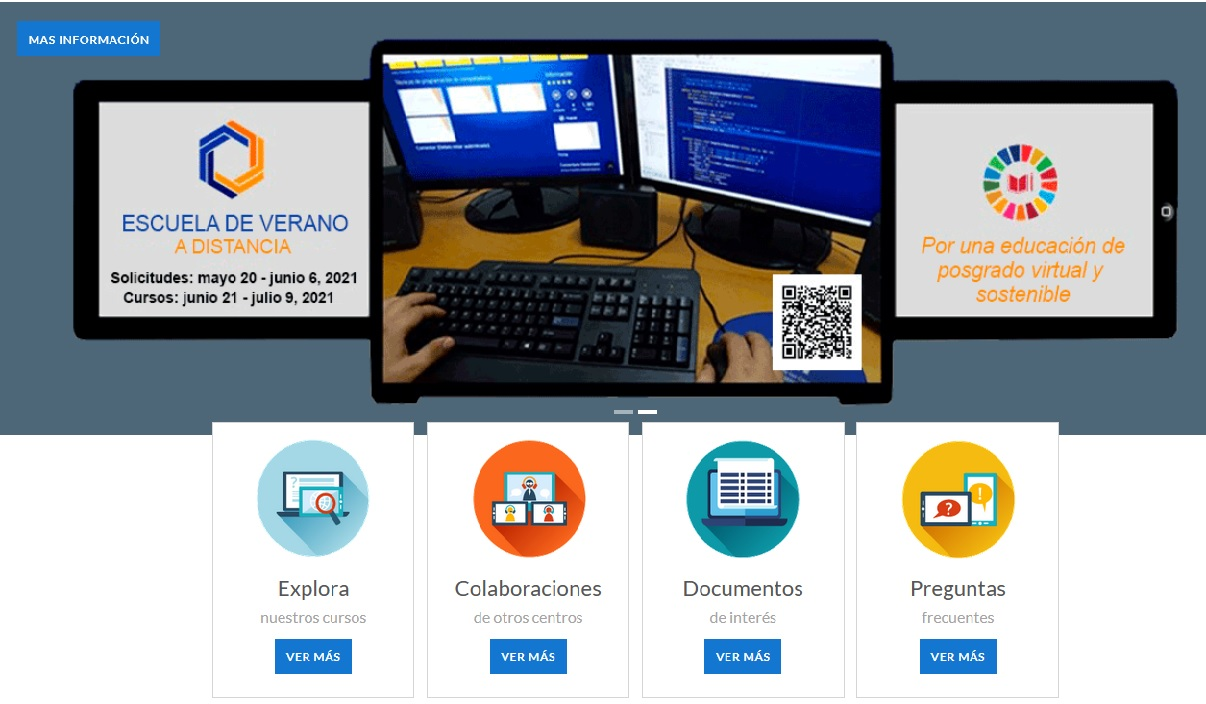 Sitio web del aula virtual del CENED