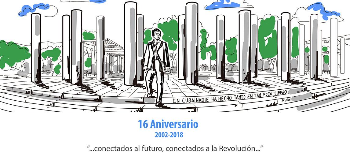 Aniversario 16 de la Universidad de las Ciencias Informáticas