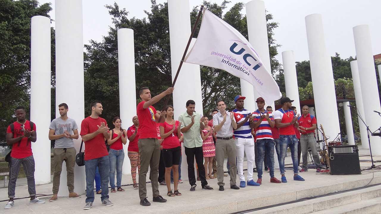 Abanderamiento a la delegación de la UCI que participará en la XIII Universiada Nacional del Deporte.