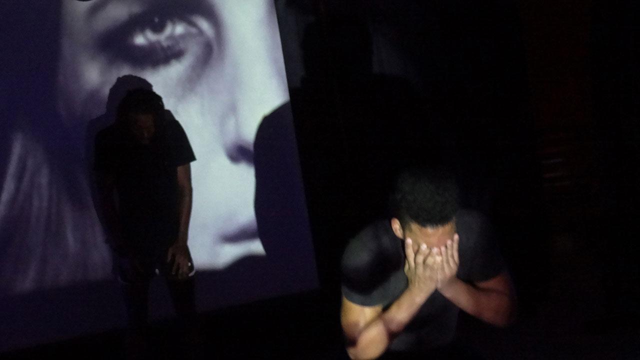 Obra ''Sin color en las pestañas'', del grupo Ámatos teatro. Universidad de las Ciencias Informáticas UCI.