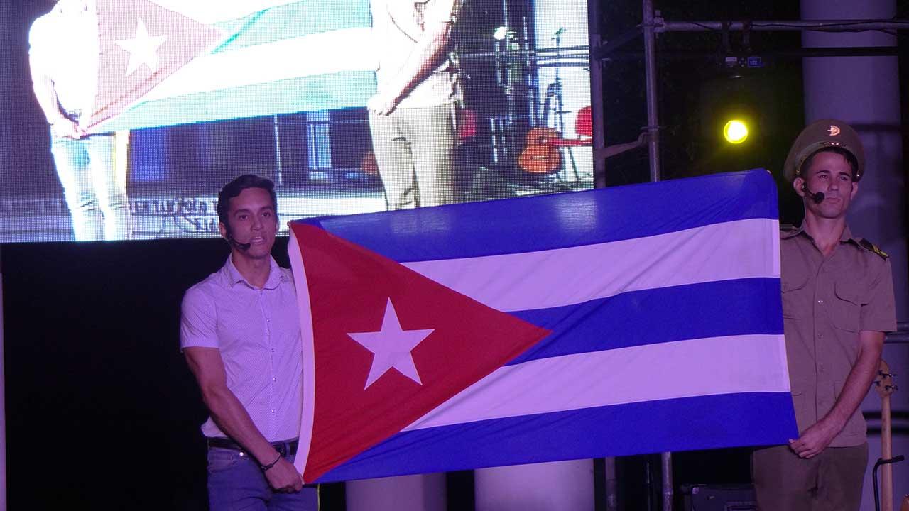 Homenaje del Arte aficionado de la UCI al líder de la Revolución Cubana.