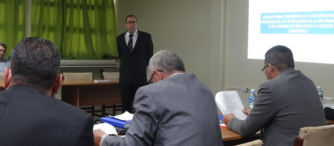 Defensa de la tesis doctoral del MSc. Juan Antonio Plasencia.