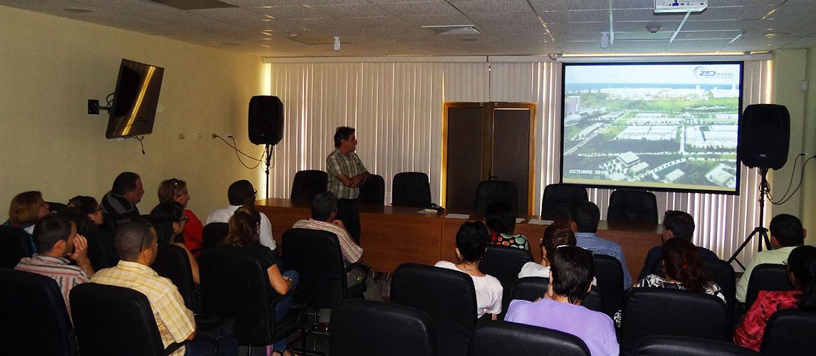 Recibimiento y presentación de la Zona Especial de Desarrollo Mariel