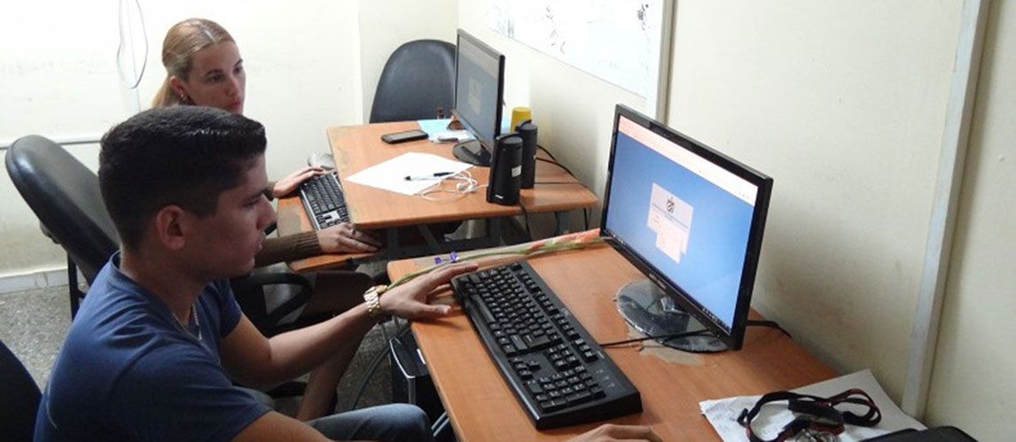 Young engineers of the University of Informatics Sciences work very hard to ensure the quality of the Electoral Management System in Cuba
