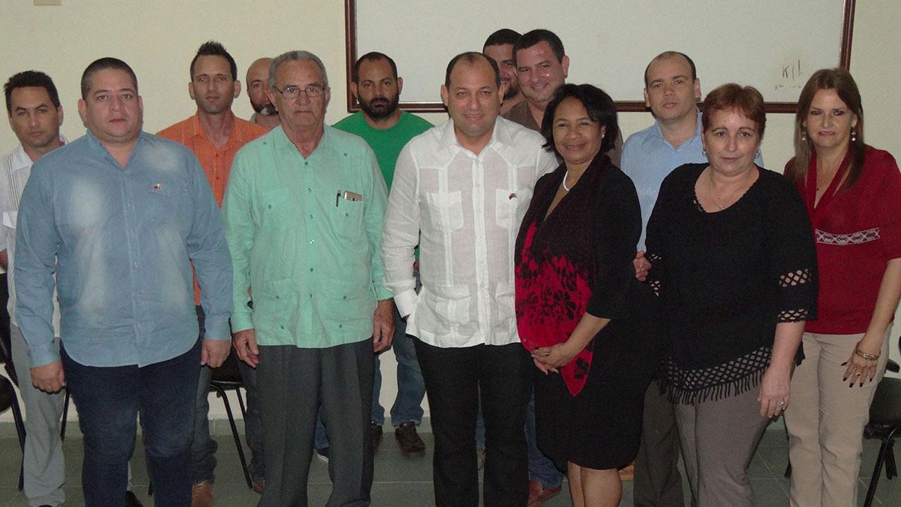 Visita a la UCI de Hugbel Roa, ministro del Poder Popular de Venezuela para la Educación Universitaria, Ciencia y Tecnología
