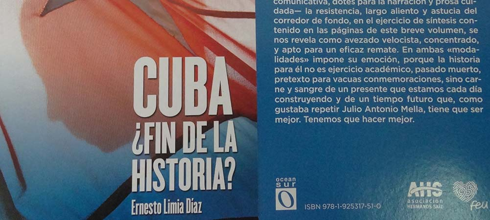 Portada y contraportada del libro Cuba: ¿fin de la Historia?, del autor Ernesto Limia Díaz