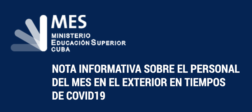 Nota informativa sobre el personal del MES en el exterior en tiempos de COVID19