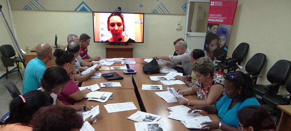 Entrenamiento de profesores en el uso de la metodología Remote Learning para la enseñanza del inglés en la Educación Superior en Cuba.