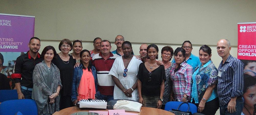 Participantes del Entrenamiento con el British Council.