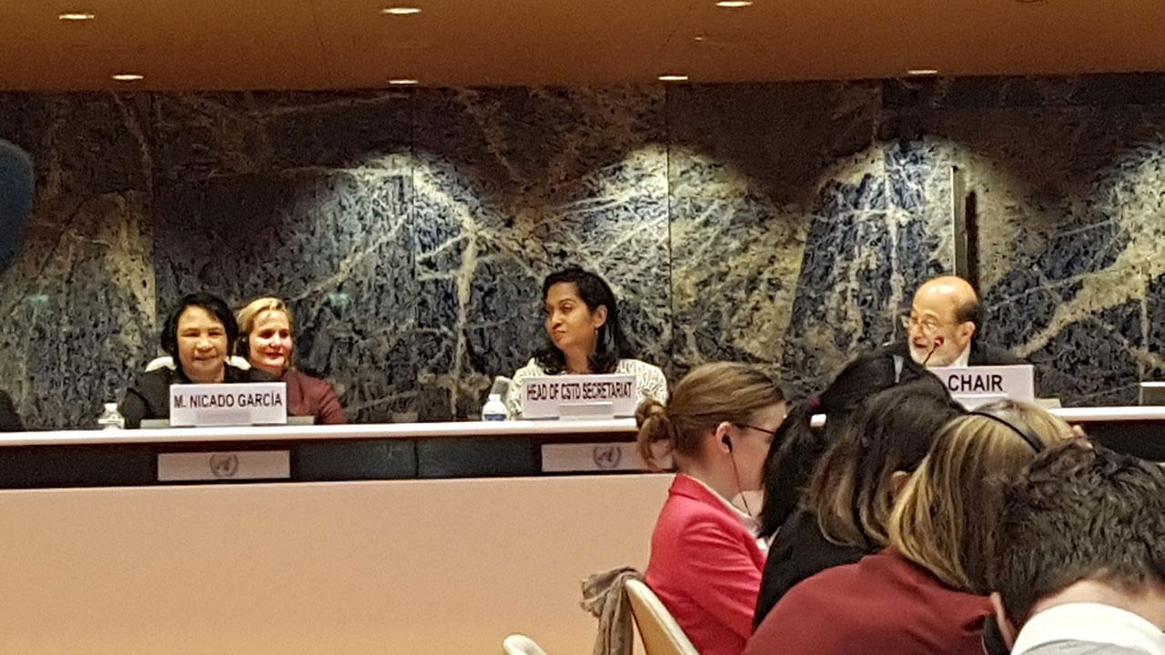 Rectora Miriam Nicado expone experiencia de la UCI en el 21 periodo de sesiones de la Comisión de Ciencia y Tecnología para el Desarrollo (CSTD) de las Naciones Unidas