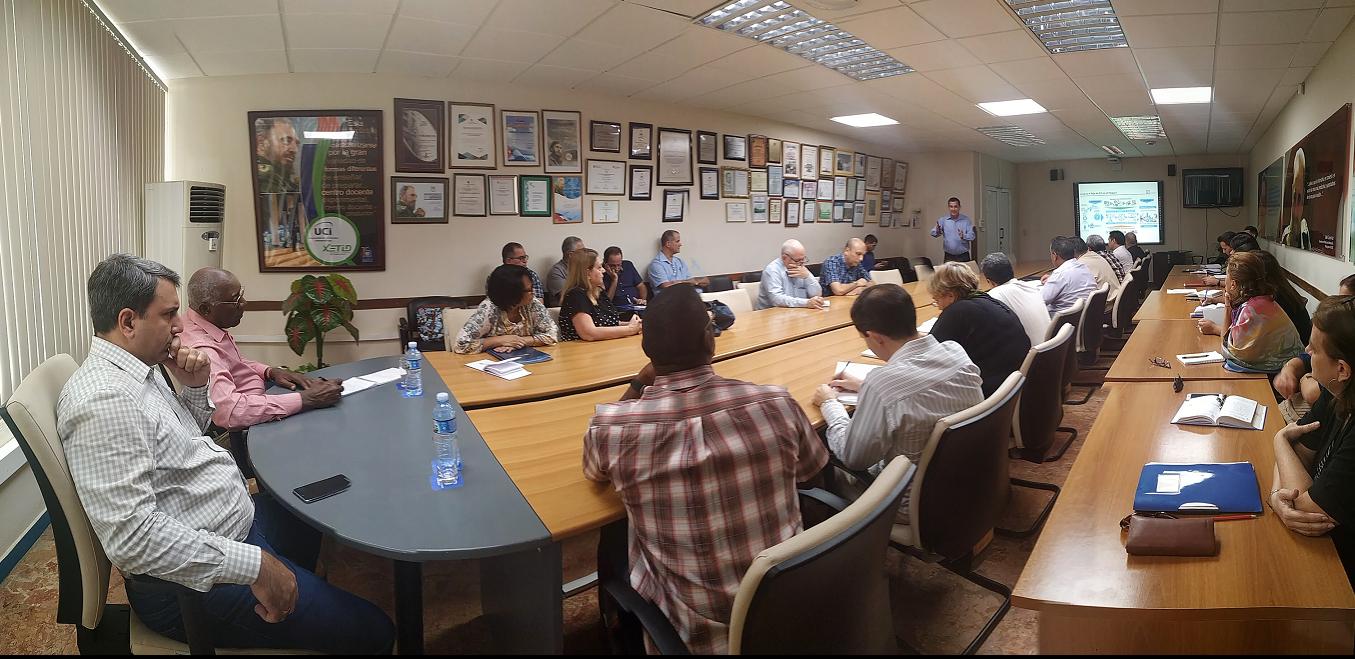 Salvador Valdés Mesa se reunió con el Consejo Universitario de la institución. Foto: Rislaidy Pérez Ramos