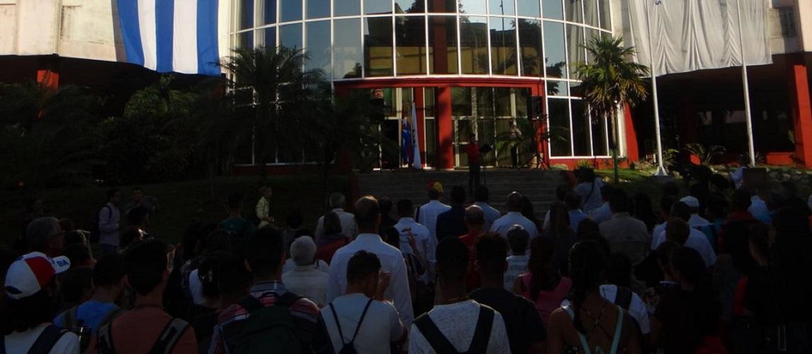 Acto en la UCI de solidaridad con Venezuela