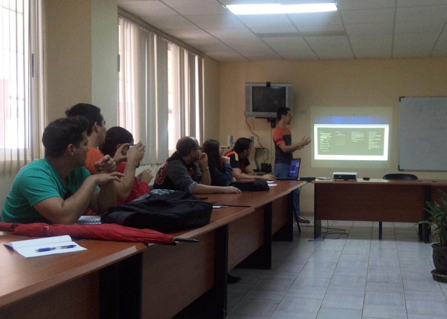 Equipo de desarrollo de la Facultad 2 expone sus resultados de trabajo en el Portal Escorpiones