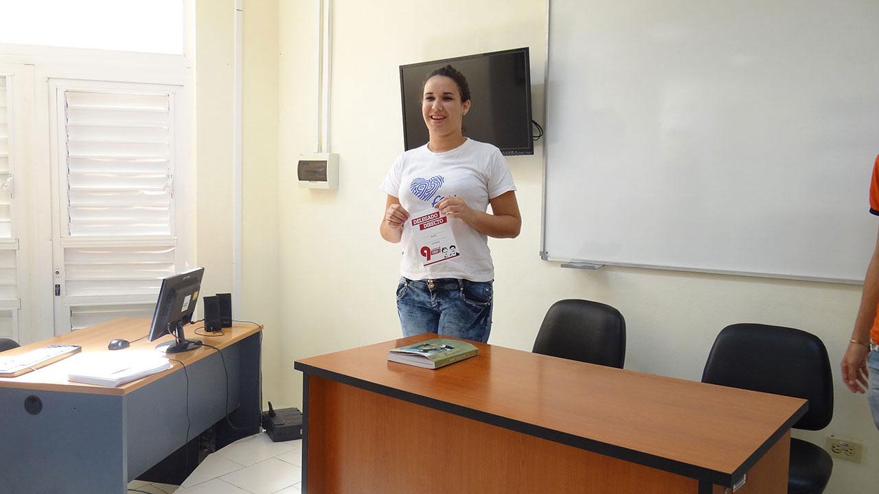 Melisa Ramírez Álvarez es seleccionada como una de las delegadas directas de la UCI al 9no. Congreso de la FEU.