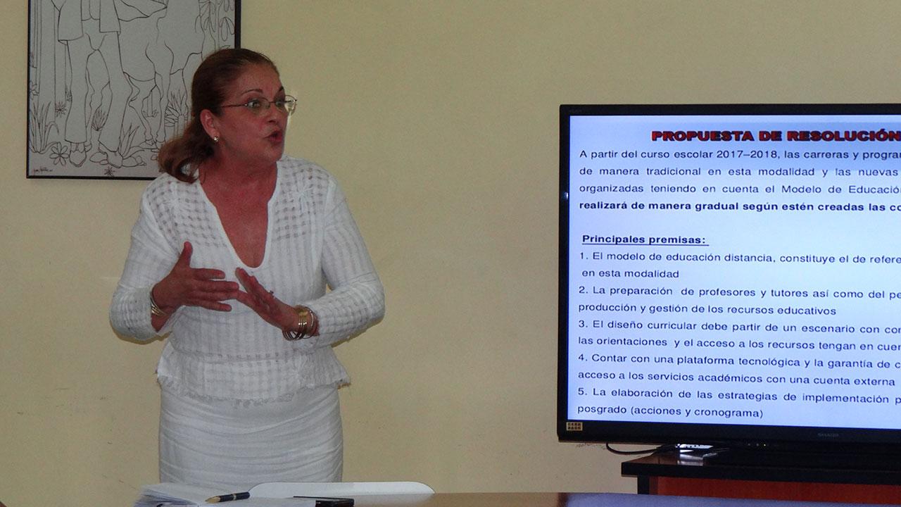 Coordinadora del MES, Dra.C. Berha Pichs Herrera.