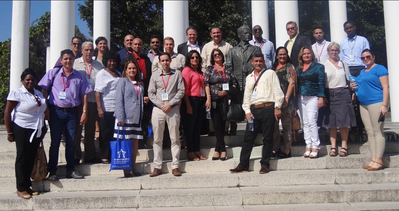 Los delegados que participan en el Taller Universidad-Empresa que forma parte del Congreso Universidad 2020 visitaron la UCI. Foto:Juan Pablo Hernández Mirabal