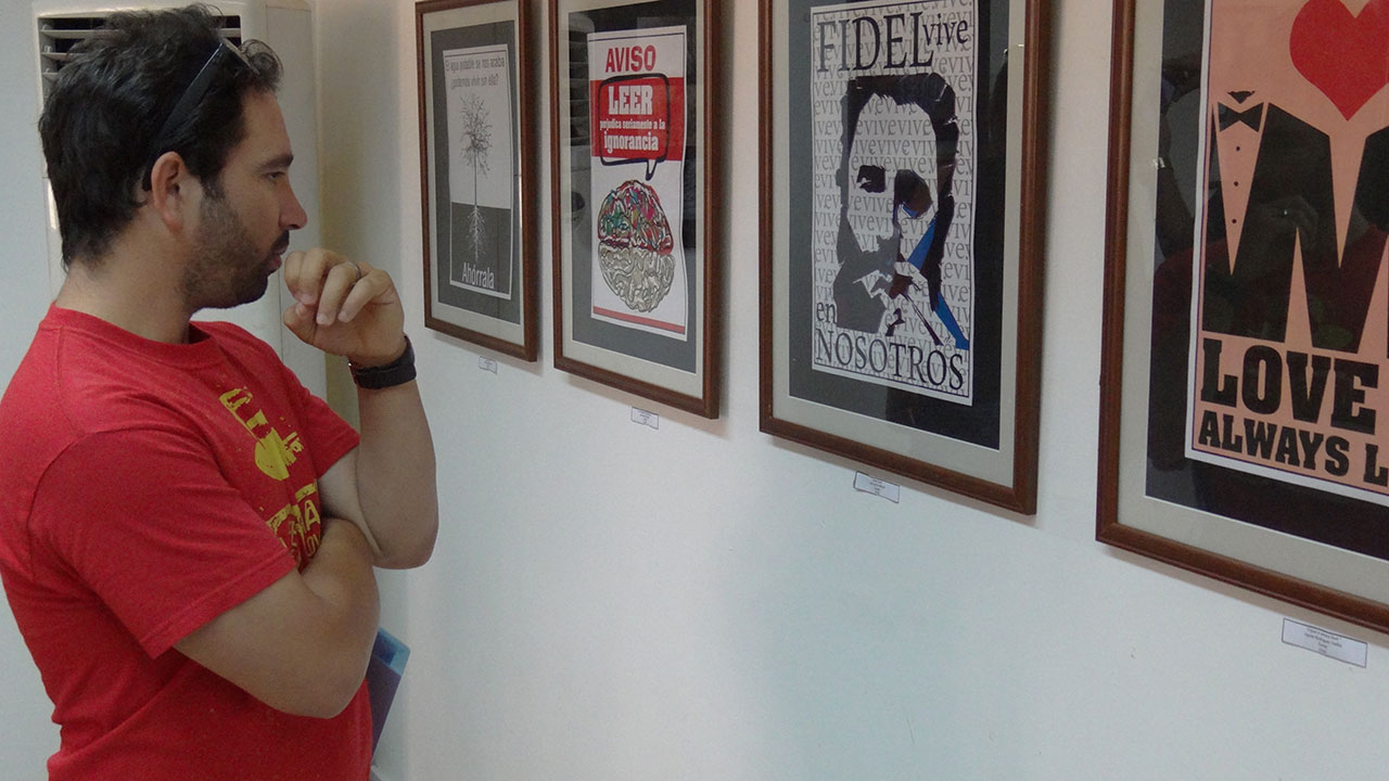 """El cartel, un """"plato fuerte"""" de Artes Plásticas en el Festival de Artistas Aficionados de la FEU en la UCI"""