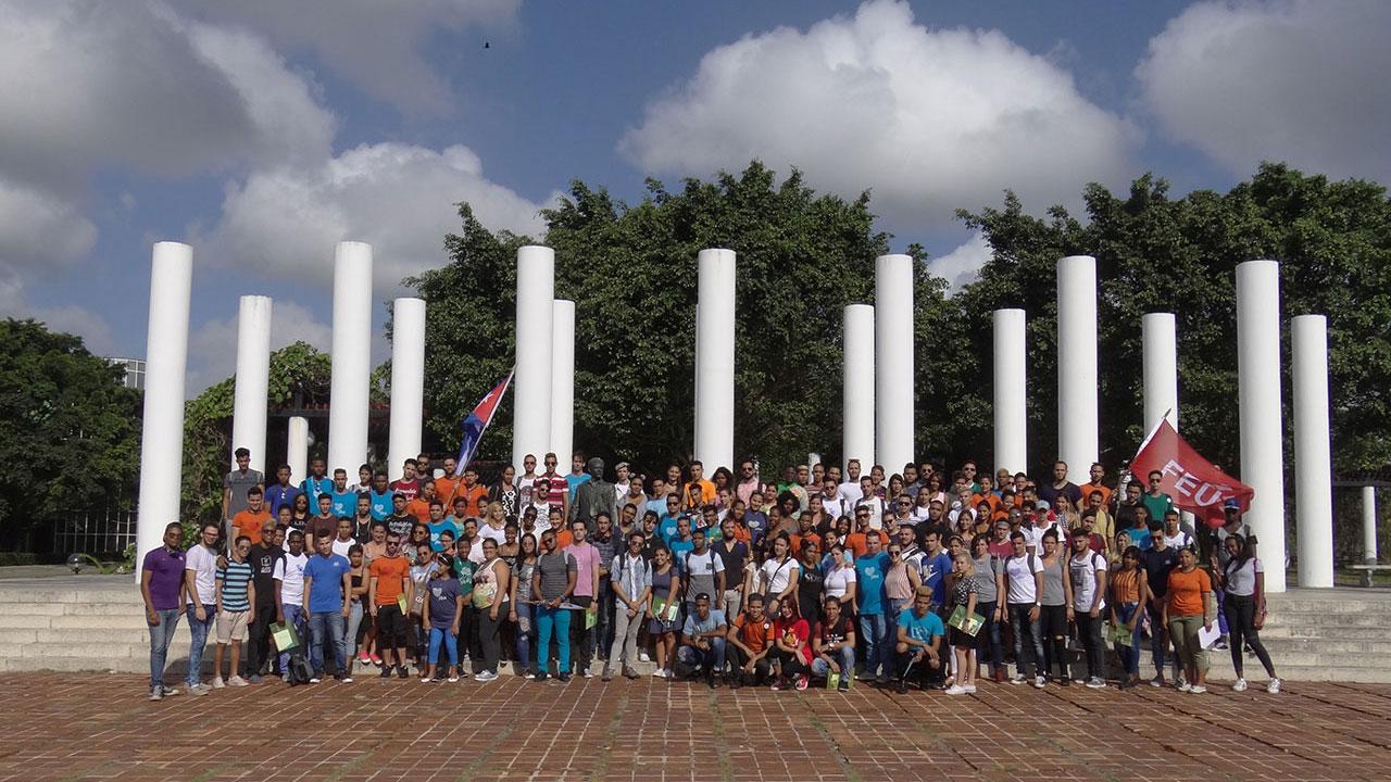 Delegados al 9no. Congreso de la FEU a nivel de Universidad