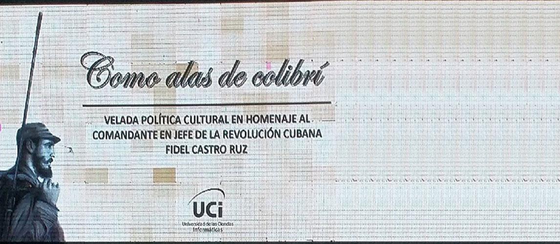 """Velada político-cultural en homenaje a Fidel: """"Como alas de colibrí"""""""