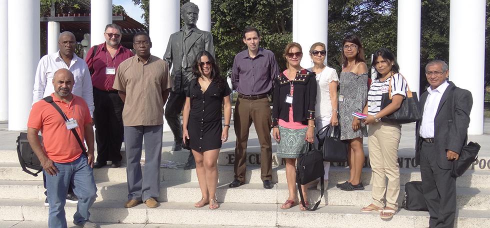 Delegados en la XV edición del congreso de pedagogos visitan nuestra institución