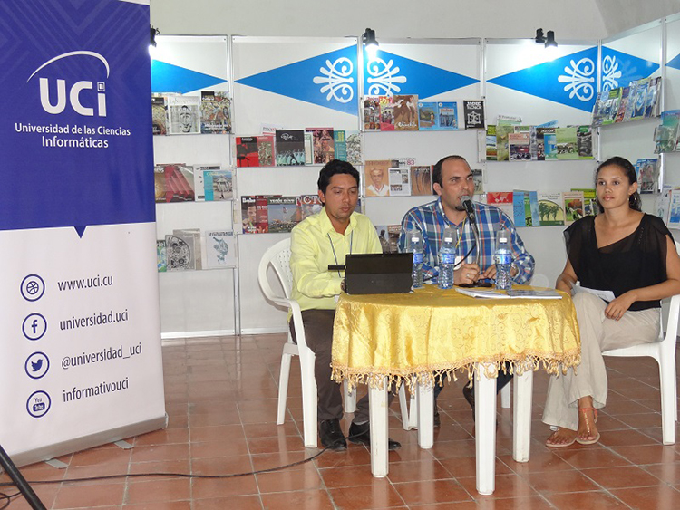 The University of Informatics Sciences present at the 26th International Book Fair of Havana