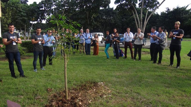 Siembra del árbol UCIENCIA 2018.