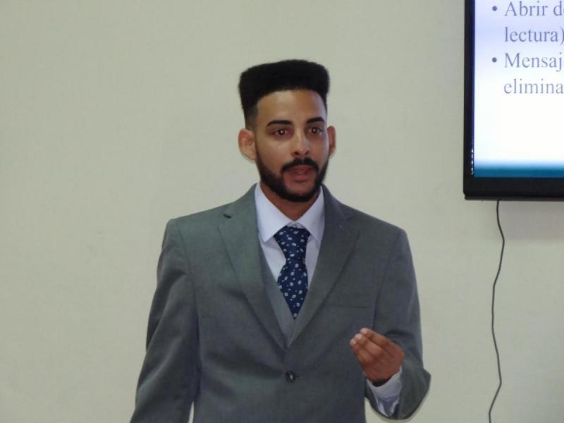Estudiante Alex Alain Hurtado Campuzano de la Facultad 3