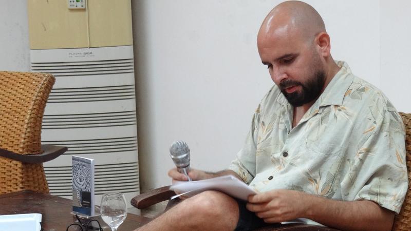 Escritor Daniel Duarte, invitado a la peña Torres de Marfil.
