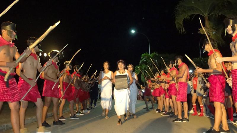 Desfile de los Gladiadores en la Inauguración de los Juegos Mella.