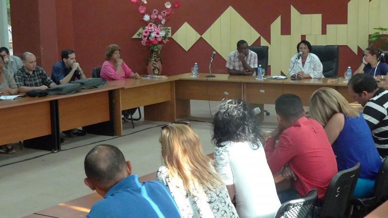 The rector, Dr. Sc. Miriam Nicado García, valued the impact on Cuban society of the products developed at UCI.