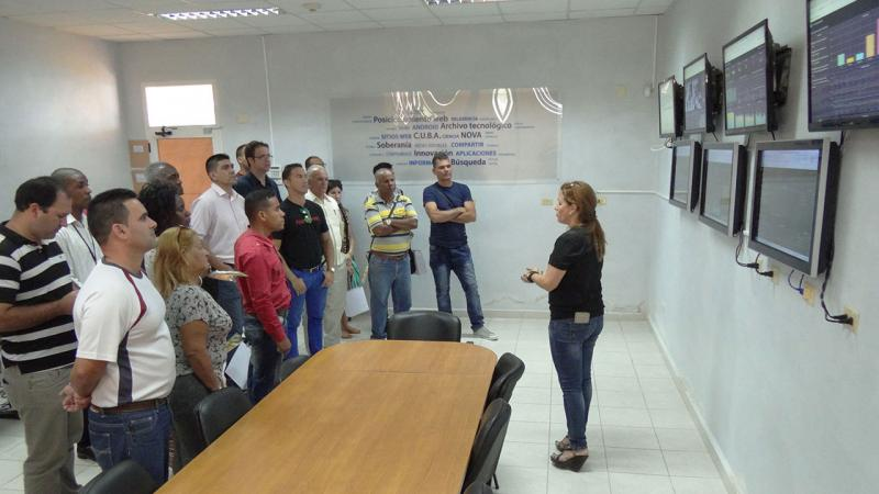 This exchange included a visit to the Red c.u.ba. Monitoring Center