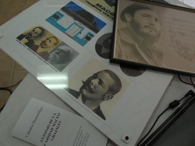 An exhibition of the printed and multimedia literature used by members of the Antonio Maceo Honorary Chair to encourage research among students.