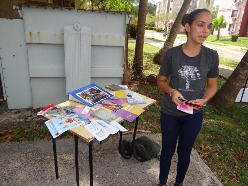 La estudiante, Marylaura Martell León, comentó las motivaciones de su participación en este certamen.