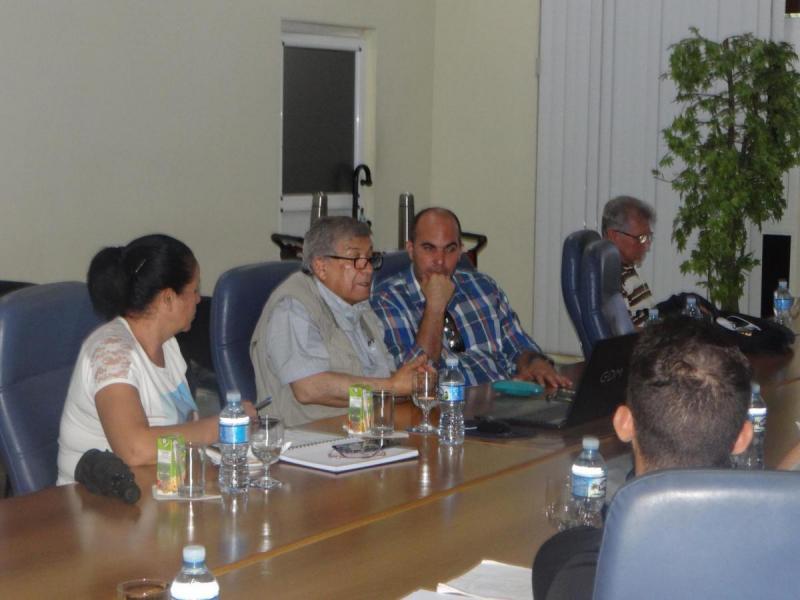 Antes de impartir la conferencia, el profesor chileno, Dr.C. Héctor Allende Olivares, presentó la institución donde labora en Valparaíso: la Universidad Técnica Federico Santa María.