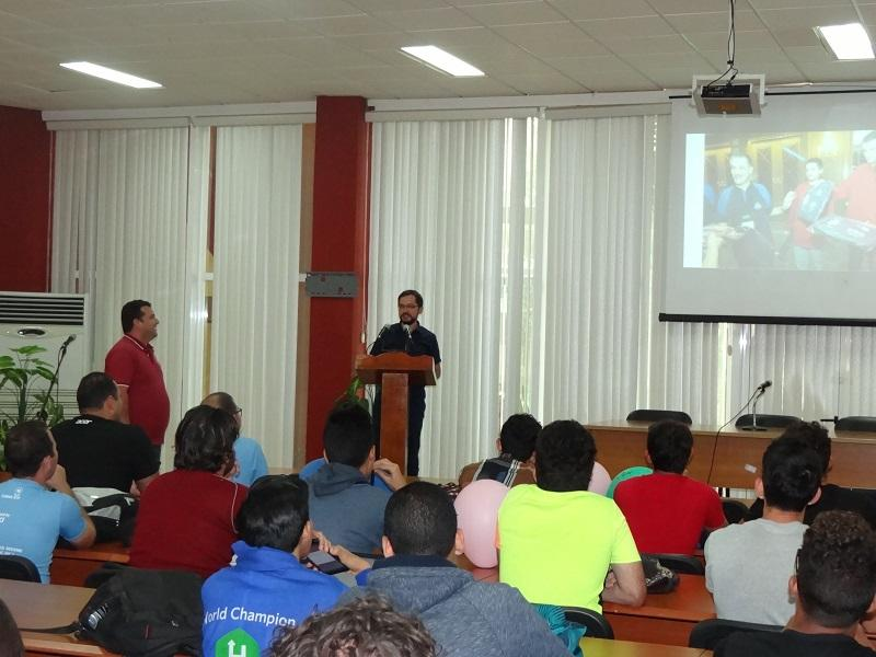 El invitado especial al XII Campamento Caribeño, el profesor polaco Tomasz Roman Idziaszek, comentó sentirse orgulloso de haber participado en esta competición de programación.
