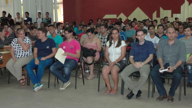 Participantes de la clausura de la I Jornada Científica del Ingeniero en Ciencias Informáticas.