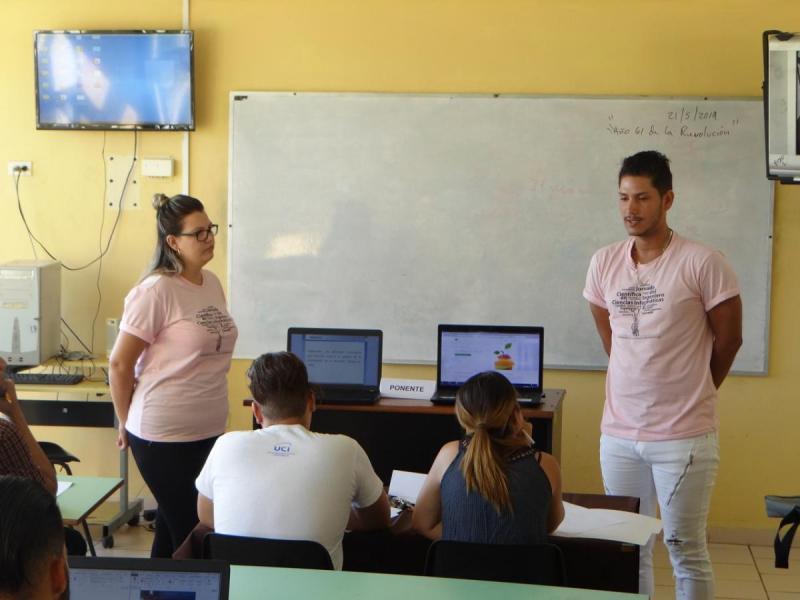 Trabajos presentados por los estudiantes participantes en Web x Cuba.