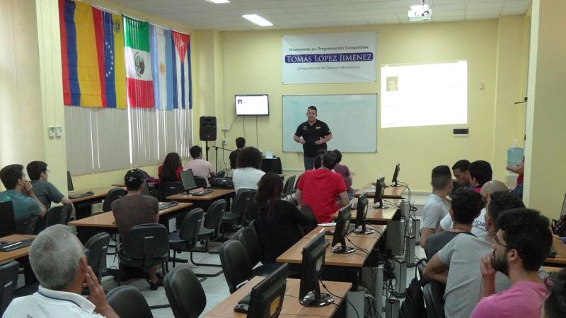 Official opening of the XI ACM-ICPC Caribbean Training Camp at the University of Informatics Sciences (UCI)