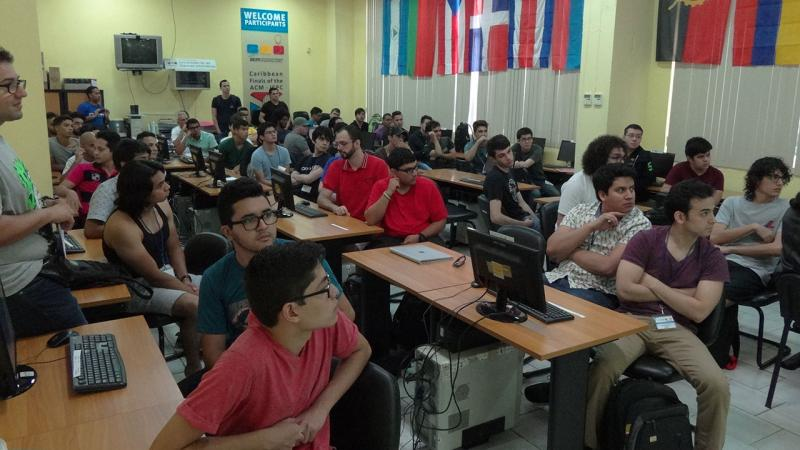 There will be training 16 teams from Caribbean universities in the ACM-ICPC Camp, 10 of them are guests and six are from Cuba