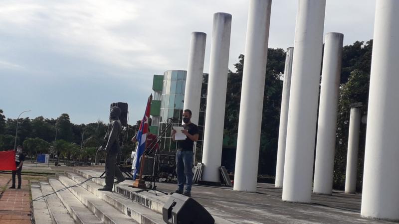 El ingeniero Haniel Cáceres Navarro señaló que lo jóvenes deben seguir construyendo cada día un socialismo más próspero.