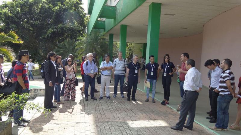 Recibimiento a los delegados extranjeros a Universidad 2018 que visitaron la UCI.