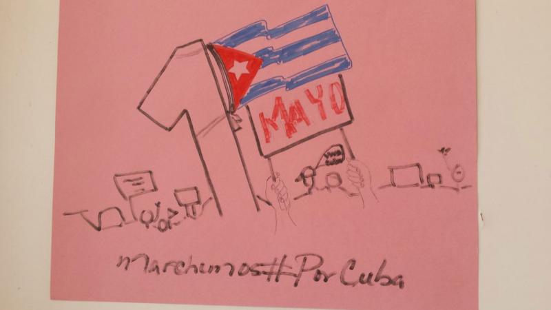 Preparativos para el desfile del 1ro de Mayo