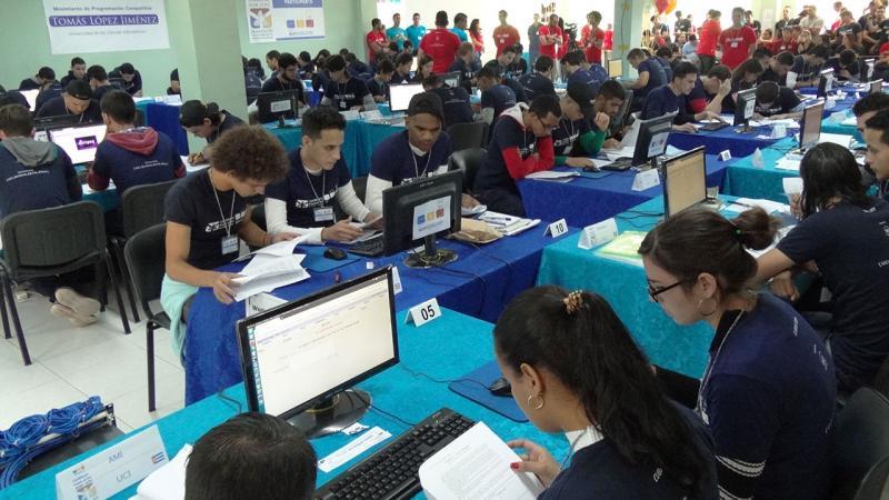El principal evento de este tipo en la región se celebra como parte del Concurso Internacional Universitario de Programación de la Asociación de Máquinas Computadoras.