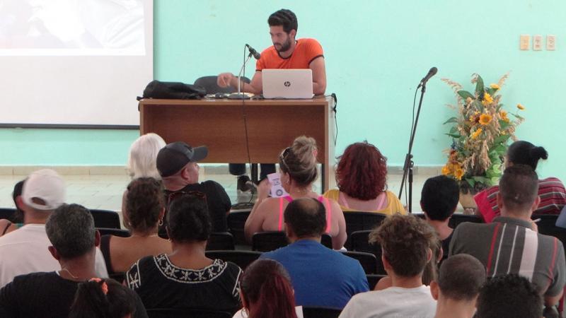 Dirigentes sindicales de la UCI en activo de preparación rumbo al XXI Congreso de la Central de Trabajadores de Cuba.