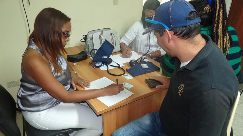 Before they donated, a series of tests were carried out on the people who attended UCI Medical Center