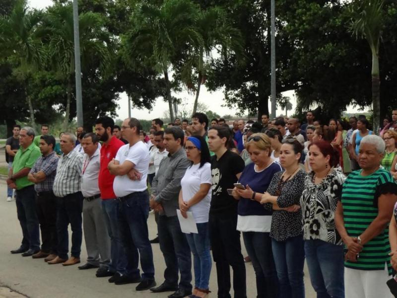 Acto de homenaje a Ernesto Che Guevara y Antonio Maceo Grajales.