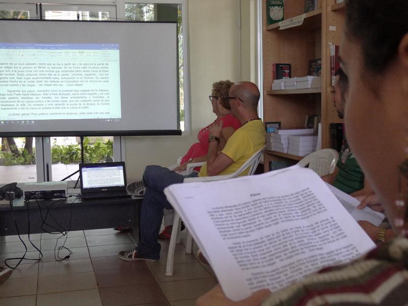Finalizó la evaluación de obras del Festival de Literatura en la UCI