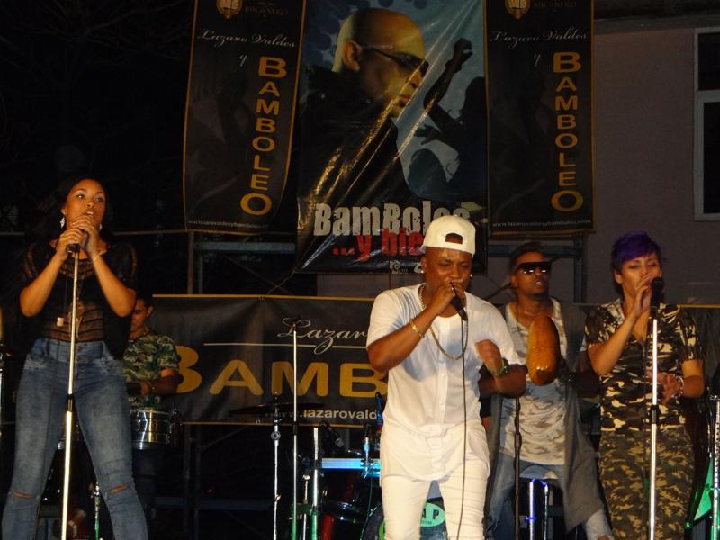 La popular agrupación Bamboleo se presentó en la noche de este lunes en la Universidad de las Ciencias Informáticas. Foto: Abel Castillo Noriega